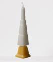Vela Havdalá Alef -  Branca e Amarela