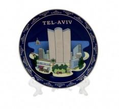 Prato de Cerâmica - decorativo Tel-Aviv