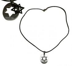 Colar medalha Estrela de Davi (aço inox)