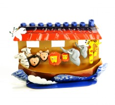 Chanukiah artesanal (arca de Noé).