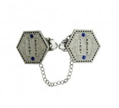 Prendedor de Talit  hexagonal - Dez Mandamentos