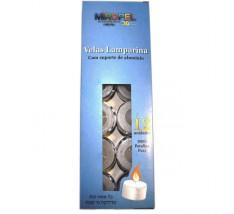 Velas lamparinas com suporte de alumínio