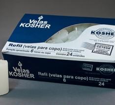 Refil (velas para copo) Kosher