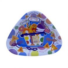 Bandeja Triangular de Melamina para a Festa de Purim