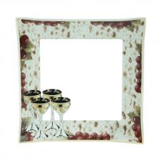 Prato de Matzah Quadrado (Importado)
