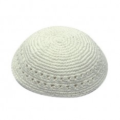 Kipah de Crochê branco